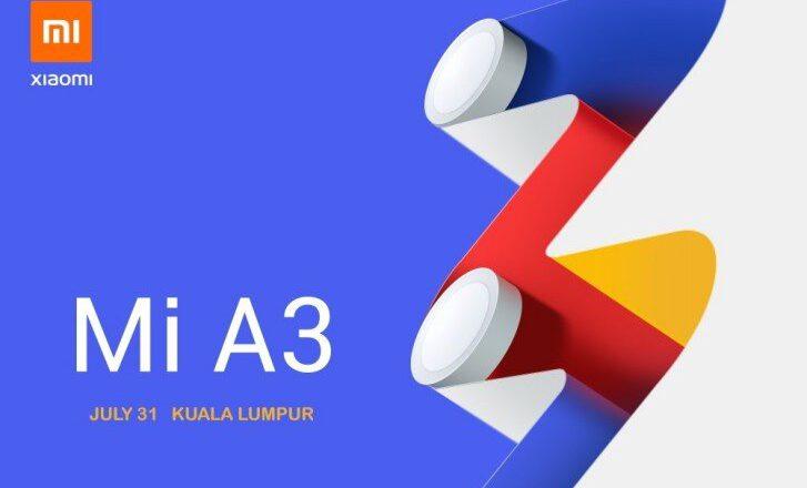 گوشی Xiaomi Mi A3 در تاریخ 31 جولای در مالزی رونمایی می شود