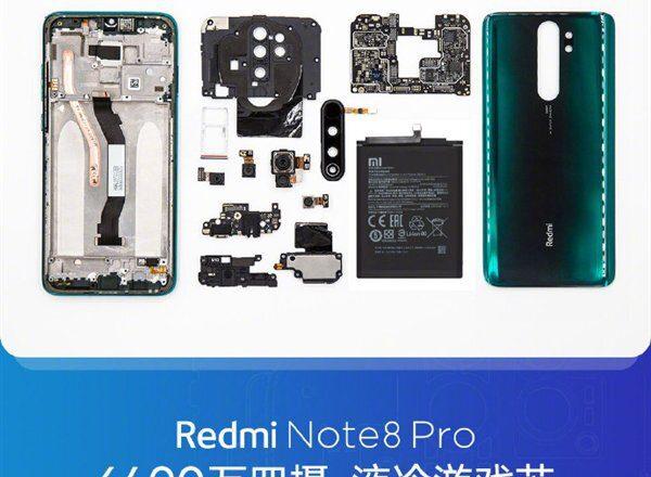 کالبدشکافی گوشی Redmi Note 8 Pro شیائومی